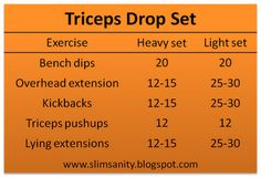 triceps workout!
