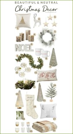 Beautiful & Neutral Christmas Decor Ideas For The Home