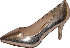 Damen Pumps Spitze Pastell High Heels Schuhe Lack Glitzer Elegant Peep-Toes Hochzeit Größe 40, Farbe Bronze - http://on-line-kaufen.de/elara/40-eu-damen-pumps-spitze-high-heels-stiletto-lack-2