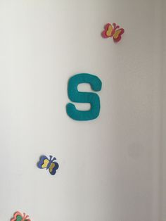 S Letter made with tulle cloth