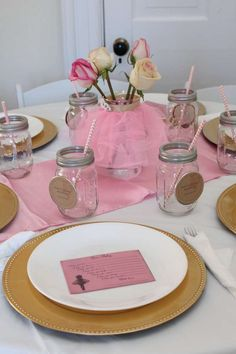 """Photo 1 of 51: Vintage Ballerina / Baby Shower/Sip & See """"All Thinks Pink, Tulle, & Gold"""" 