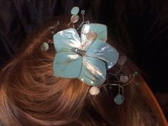 Ice Blue and Silver Hair Fascinator by RiverwalkRevisions on Etsy