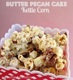 Butter Pecan Cake Kettle Corn {Sundays with Joy} - Crazy for Crust