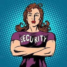 woman security guard by studiostoks on Creative Market