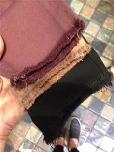 Frayed edges are going to be all the rage this fall!! We will let you know when we have them in store!!