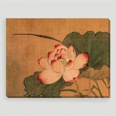 Buy a print of Ancient Chinese Art- Pink Lotus by Vintage asian art (framed or without frames). All prints of Ancient Chinese Art- Pink Lotus are available in custom sizes. Lotus Art, Pink Lotus, Oil Painting Flowers, Silk Painting, Plant Painting, Watercolor Paintings, Silk Art, Floral Artwork, Korean Art