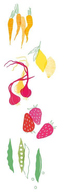 Nanna Prieler | Fruit & Veg : http://www.nannaprieler.com/#/vegetables/   http://unirazzi.com/hoangtrishop/pin/427982770822449322/