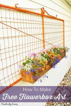 Free Flower Box Wall Art