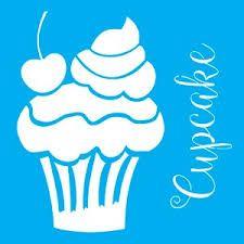 Resultado de imagem para stencil doces e cupcakes