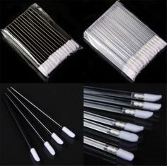 50Pcs Disposable Lip Brush Lipstick Gloss Wands Applicator Brush Makeup Multi GO