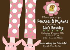 One of the best birthday party ideas ever! Complete with PJ's, pancake bar, and hot cocoa bar. Awesome for any age!