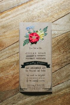 Love the flower details on this naturally beautiful #wedding invitation!  From http://ruffledblog.com/galleries/handmade-new-south-wales-wedding/?nggpage=2  Photo Credit: http://ilovewednesdays.com/