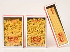 Open-Faced Pasta Boxes : de cecco
