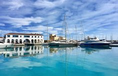 Shades of blue. Cyprus# Limassol marina by singh.buland