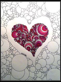 Heart Art Print My Heart & My Soul by AshMarieSha on Etsy
