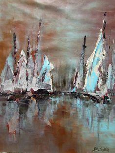Malarstwo marynistyczne, ujęcie abstrakcyjne, obrazy by Sylwia Michalska