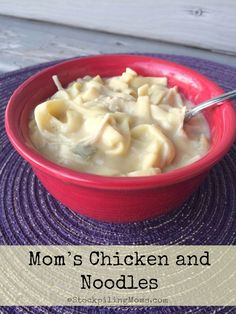 Mom's Chicken and Noodles recipe is so easy to prepare in the slow cooker and taste delicious!