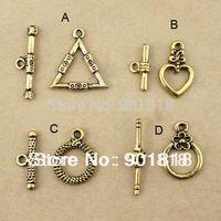 20 set / lot Fashion Jewelry, charm, pendant, Antique of Golden Alloy Clasp Bracelet From OT F756