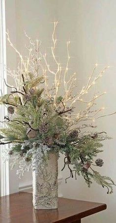Lámpara follaje navidad