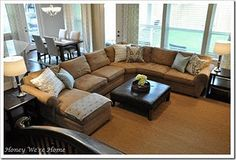 Cant wait to get our new living room furniture...this looks nice..in leather though