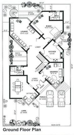 House Plans Mansion, My House Plans, House Layout Plans, Basement House Plans, Duplex House Plans, Bungalow House Plans, Family House Plans, House Floor Plans, Home Map Design