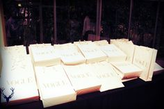 Gift bags for the invitees