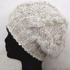 Lys beige lue i alpakka Knit Hats, Crochet Hats, Winter Hats, Beige, Knitting, Threading, Knitting Hats, Taupe, Tricot