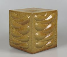 Hans de Jong 'cube' 1972. A number of similar but unique pieces were shown during a solo exhibition at gallery Fenna de Vries in the same year.