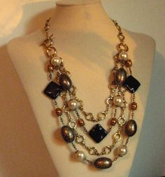 On SALE  Classic Elegance  Mutlistrand Chain by zoeJaneJewels1, $59.00