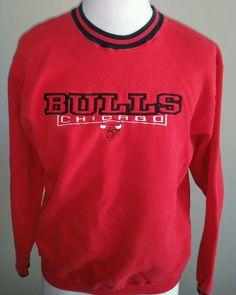 Chicago Bulls Vintage VTG 90s Pro Player Crewneck Sweatshirt Mens XL Jordan #ProPlayer #ChicagoBulls