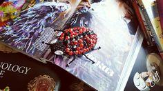 Handmade brooch ladybug🐞