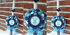 Lumanare botez fluturas Hanukkah, Wreaths, Handmade, Diy, Home Decor, Hand Made, Decoration Home, Door Wreaths, Bricolage