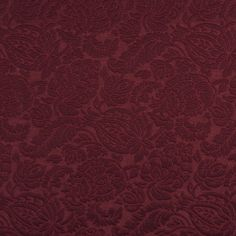 Burgundy or Red or Rust color Foliage pattern Brocade or Matelasse and Damask or Jacquard type Upholstery Fabric called WINE or GARDEN by KOVI Fabrics Striped Upholstery Fabric, Fabric Ottoman, Ikat Fabric, Floral Fabric, Upholstery Fabrics, Geometric Fabric, Traditional Furniture, 3d Max, Colorful Garden