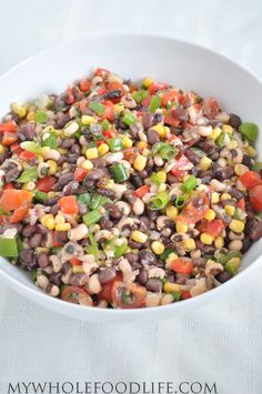Healthy Texas Caviar - sub vinegarette with 1/2 cup fat free Italian dressing ~ 1 pt per 1/4 cup