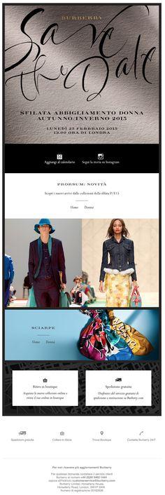 Burberry | Segnati la data - Sfilata Burberry Abbigliamento Donna A/I15