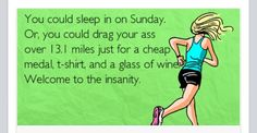 Every half marathon i run i wonder why? Marathon Motivation, Fitness Motivation, Running Motivation, Fitness Quotes, Running Humor, Running Quotes, Running Workouts, Running Tips, Funny Running Memes
