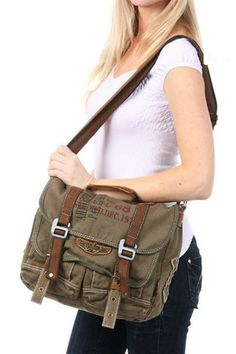 Military #Womens Vintage Canvas Over The Shoulder #Messenger Bag #Serbags