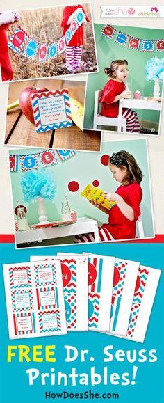 Celebrate Dr. Seuss! – Exclusive FREE Printables howdoesshe.com