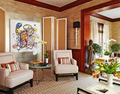 Red Cross Palm Beach Showhouse | Traditional Home. Den. Designers Joseph Cortes and Kevin Marnell.