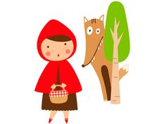 Little Red Riding Hood Popular Fairy Tales, Red Riding Hood Party, She's A Rainbow, Plate Art, Kids Room Art, Decoupage, Little Red, Applique, Clip Art