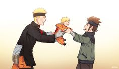 Naruto,Boruto e Konohamaru Anime Naruto, Naruto Comic, Naruto Shippuden Sasuke, Naruto And Sasuke, Boruto And Sarada, Naruto Fan Art, Naruto Cute, Otaku Anime, Kakashi