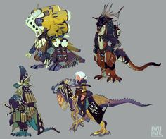 Discover The Art of Ryota Murayama, a Freelance Artist for games based in Tokyo, Japan. Character Concept, Character Art, Concept Art, Monster Design, Creature Design, Character Design Inspiration, Animal Design, Anime, Fantasy Creatures