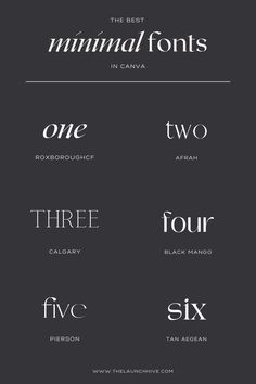 Top 7 Minimal Fonts In Canva — The Launch Hive