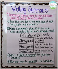 summary for essay