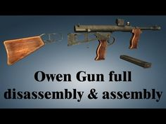 The Owen Gun, which was known officially as the Owen Machine Carbine, was an Australian submachine gun designed by Evelyn (Evo) Owen in The Owen was th. Submachine Gun, Guns, Youtube, Products, Weapons, Pistols, Sniper Rifles, Rifles, Beauty Products