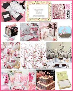 Cherry Blossom theme wedding (I love this)!
