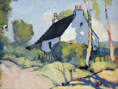 The White Cottage by George Telfer Bear