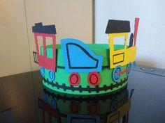 verjaardagsmuts trein 1 jarig kindje gemaakt door Karinvl