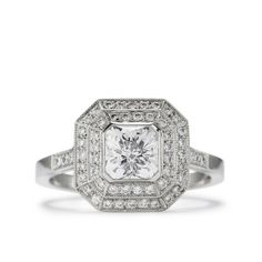 One of a Kind Excalibur Diamond Engagement Ring