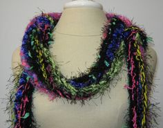Colorful handmade scarves